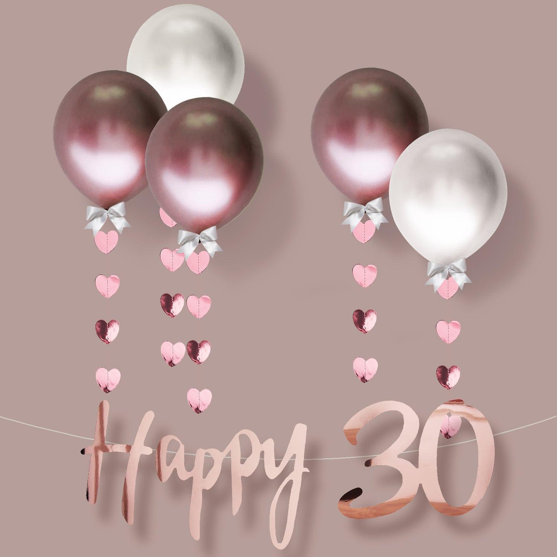 Happy 30 Girlande Banner 1 5m Geburtstag Jubilaum Party Feier Deko