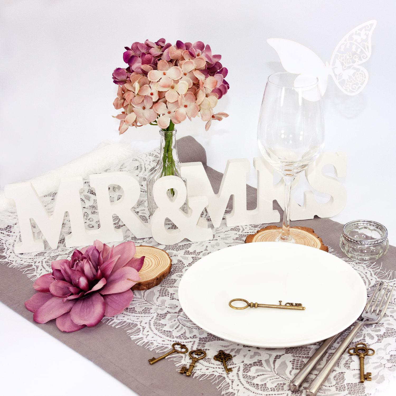Tischkarten Hochzeit Floral Banner
