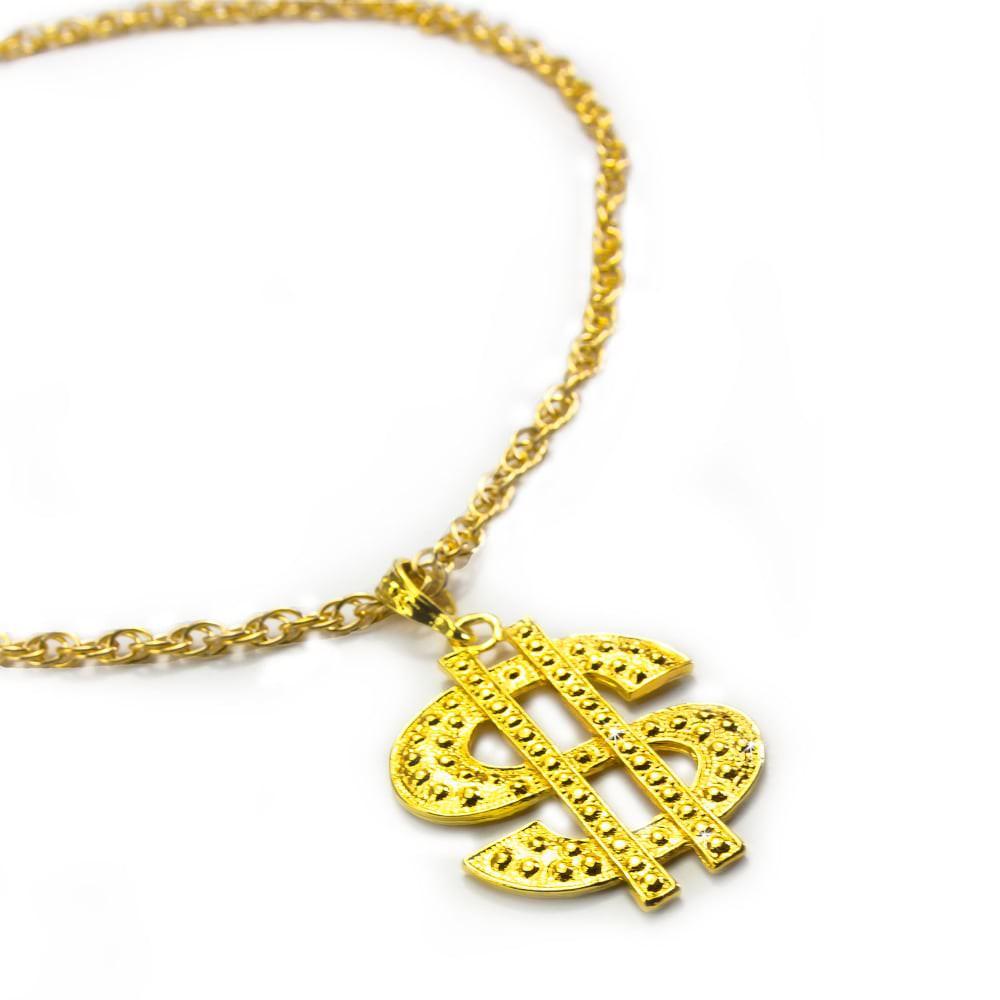 Dollar Zeichen  Gold Clip Ohrringe Karneval Fasching