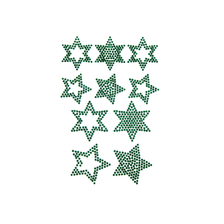 Stern Weihnachten.10 Sterne Sticker Strass Steine Für Weihnachten Weihnachtsdeko Grün