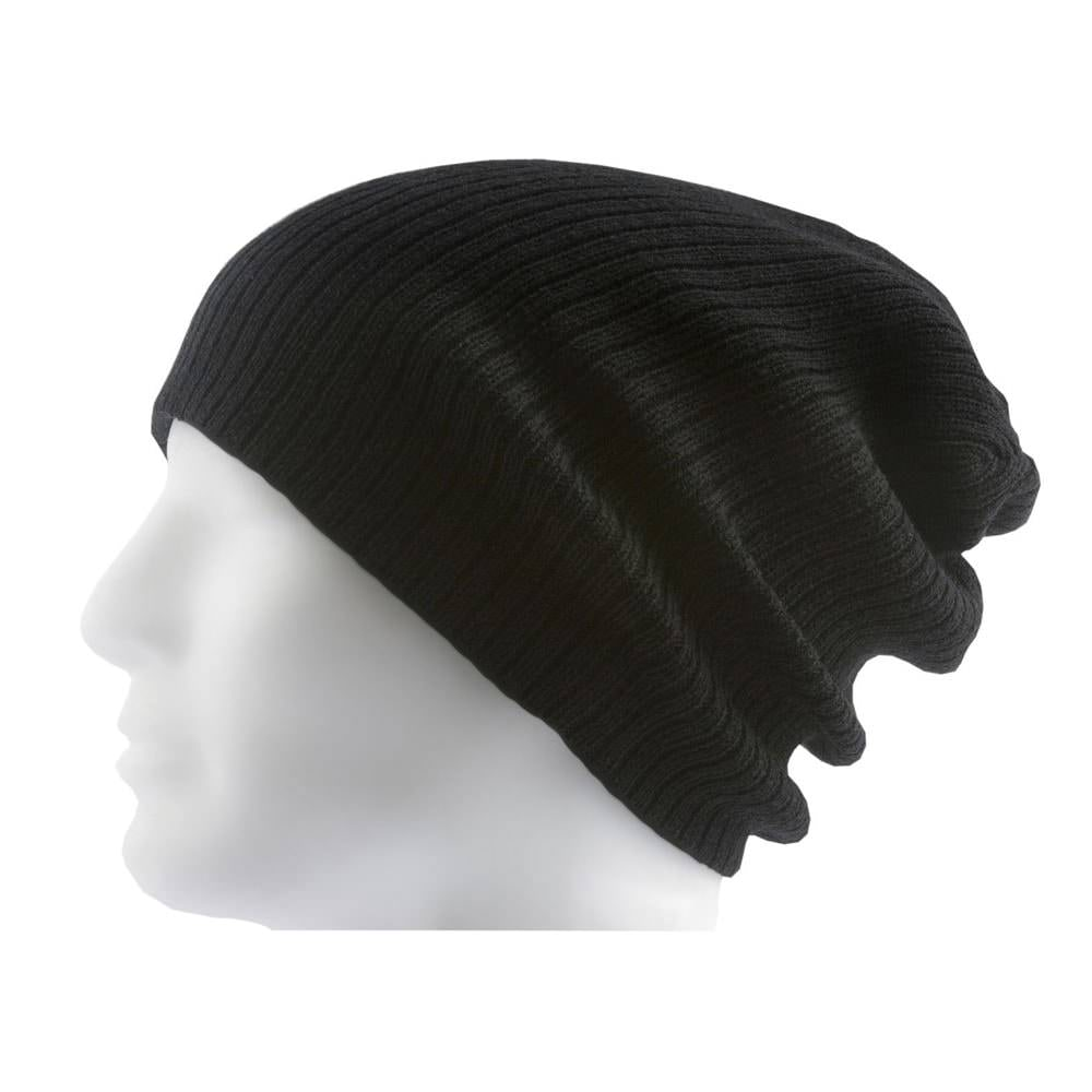 77dbf76a353 Long Beanie Mütze XXL Damen Herren Kinder Mützen Winter - black