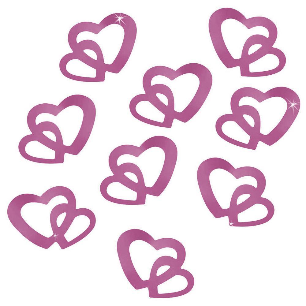 Herz konfetti tischdeko liebe romantik hochzeitsdeko flieder for Herz tischdeko