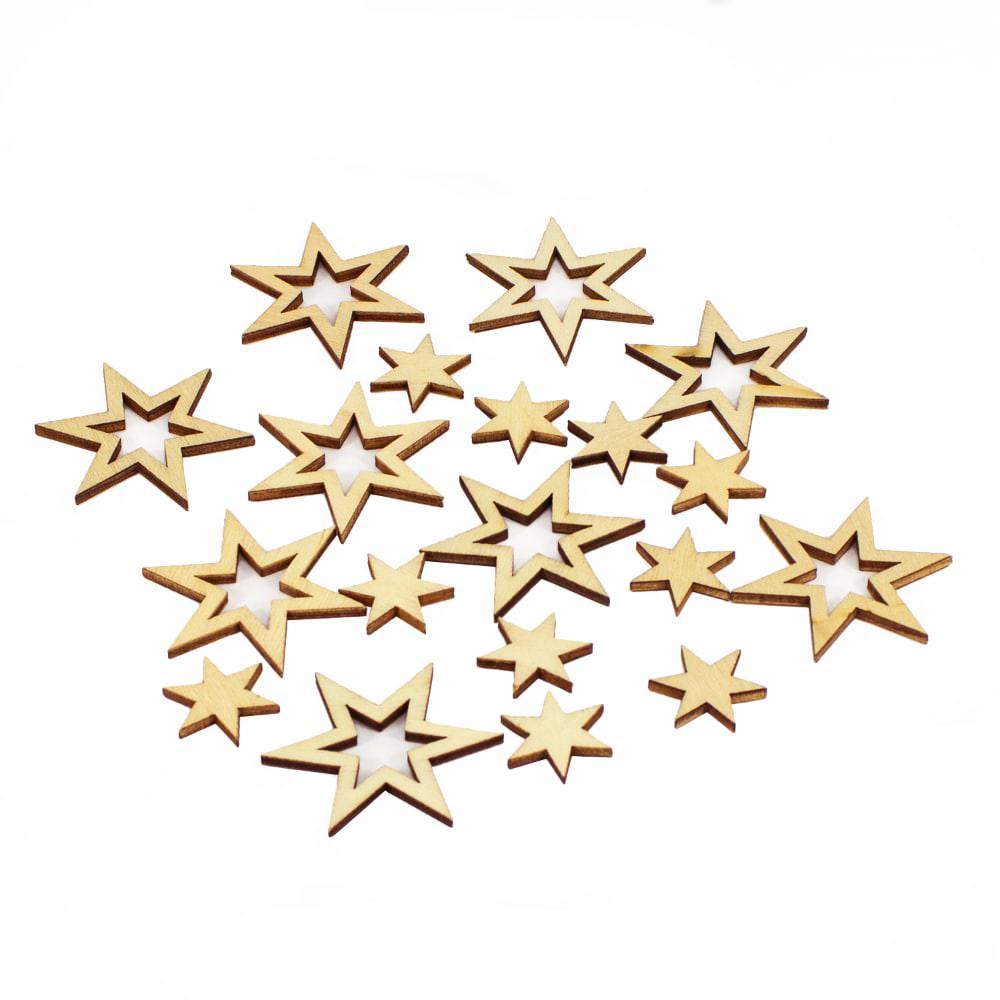 18 Holz Sterne Holzdeko Weihnachtsdeko Tischdeko Weihnachten Natur