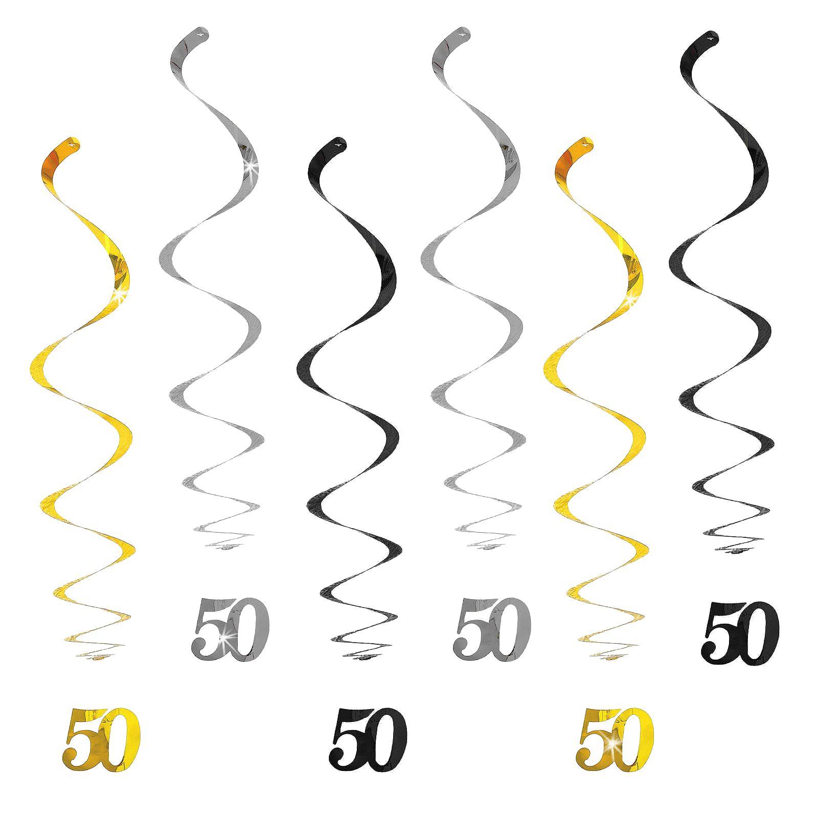 Happy 50 Girlande Geburtstag Goldene Hochzeit Jubiläum Deko