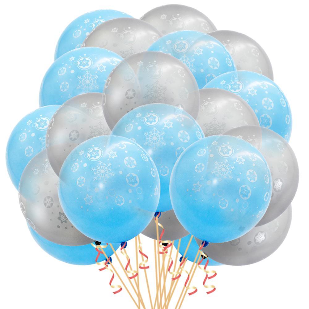 Luftballon set 20 stk schneeflocken winter weihnachtsdeko - Weihnachtsdeko blau ...