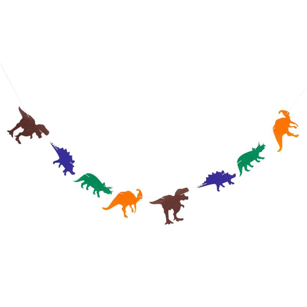 Dino Girlande 2m Dinosaurier Kinderzimmer Deko Kinder Geburtstag Party