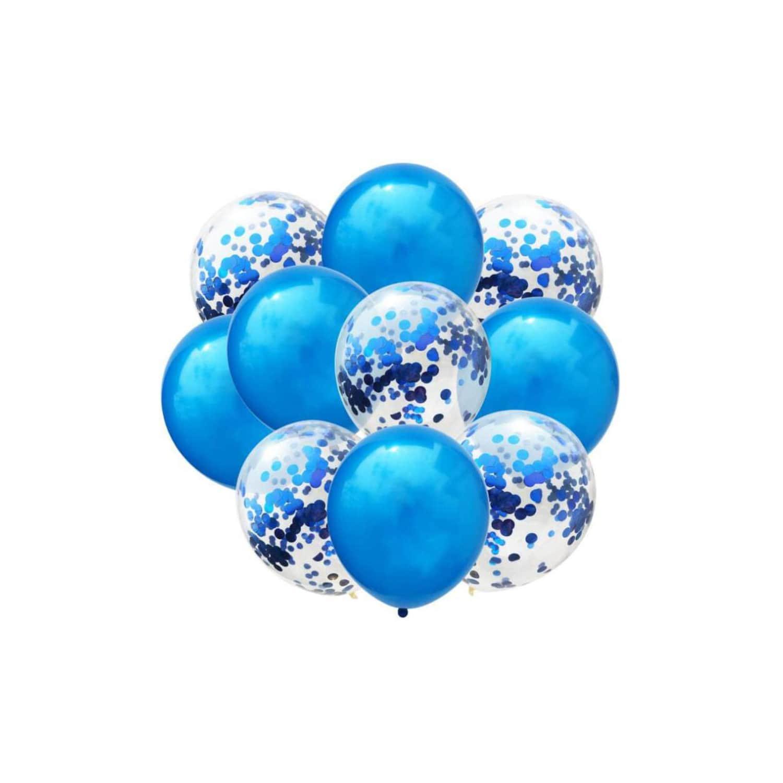 Happy Birthday Geburtstag Party Deko Set   Girlande Konfetti Ballons uvm.  blau