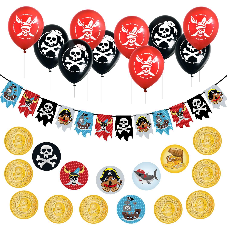 Motiv Piraten Partydekoration Tischdeko Raumdeko Kindergeburtstag Piraten