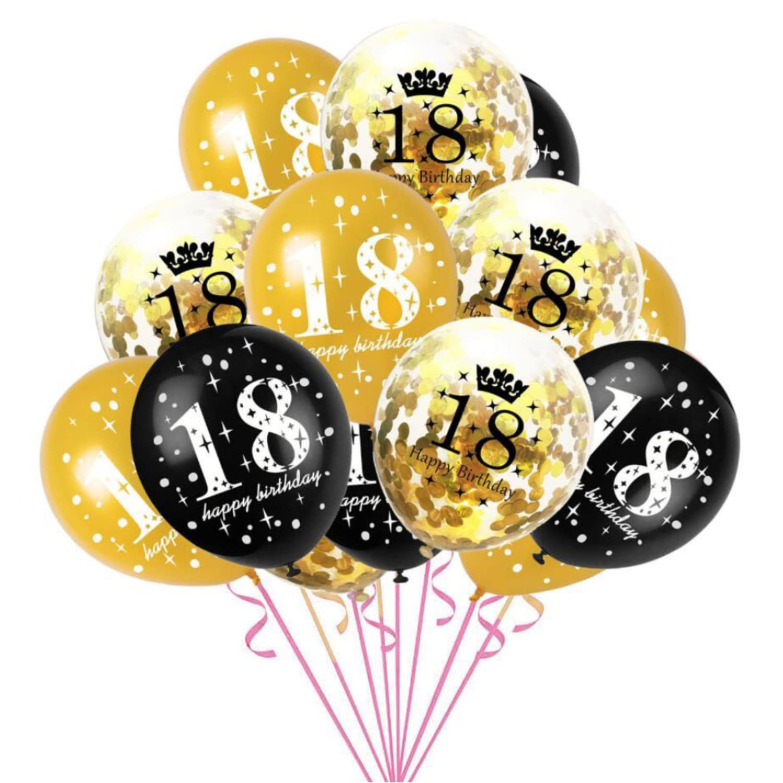 Konfetti Geburtstag Set Ballons Deko Ballonschnur 1 5 10 15 16 18