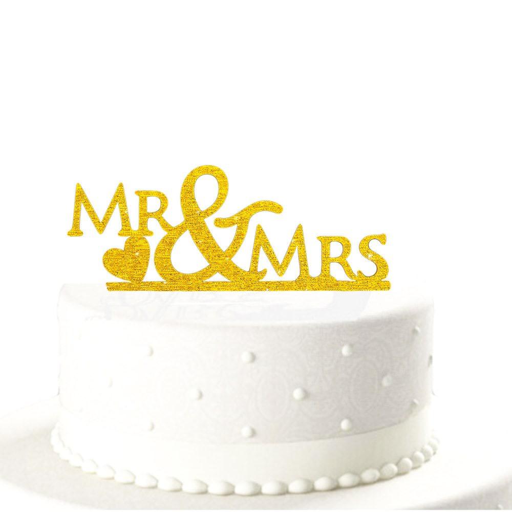 Hochzeitstorten Topper Mr Mrs Kuchendeckel Hochzeit Gold