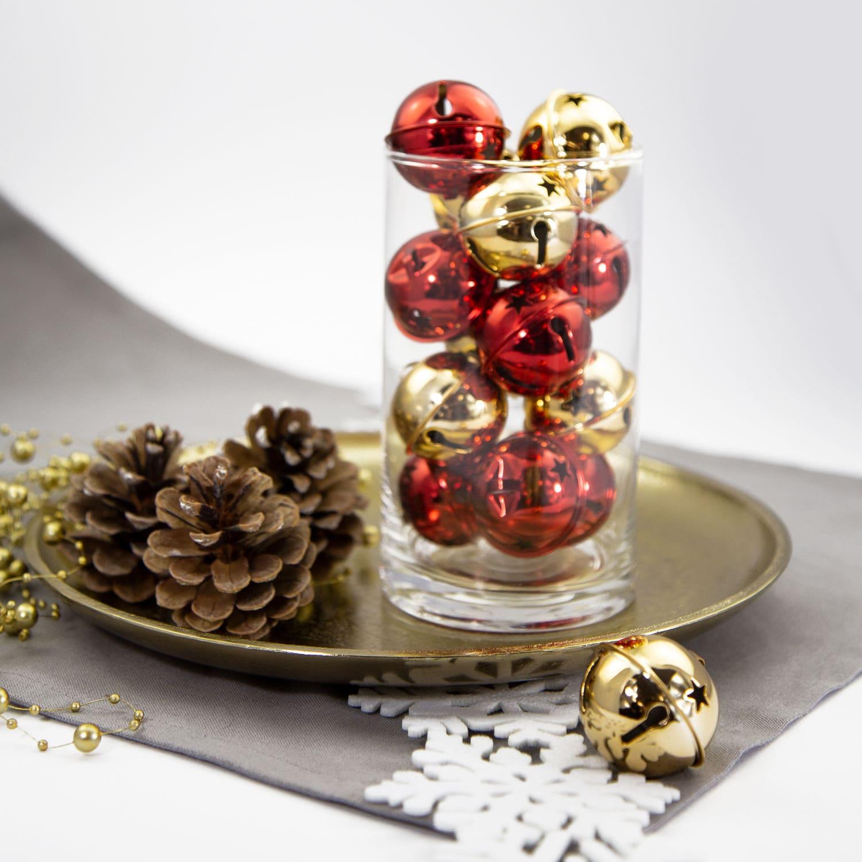 12 weihnachtsgl ckchen tischdeko weihnachtsbaum. Black Bedroom Furniture Sets. Home Design Ideas