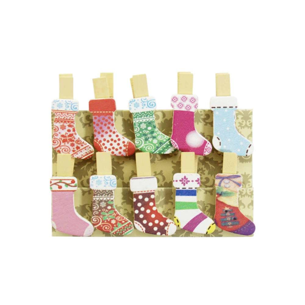10 Mini Wascheklammern Holz Miniklammern Deko Klammern Strumpfe