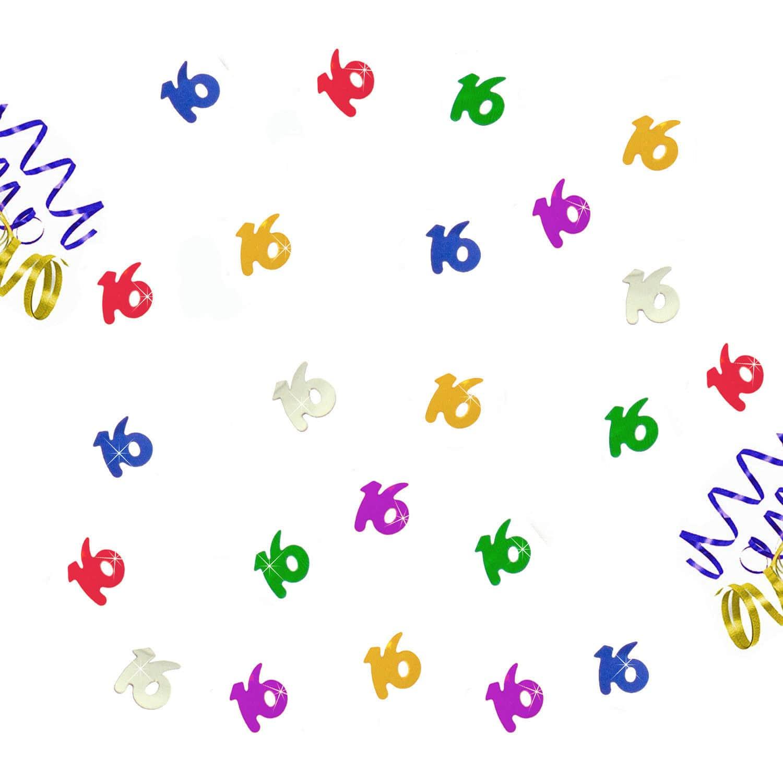 14g Konfetti Dekoration Jubiläum Hochzeit Zahl