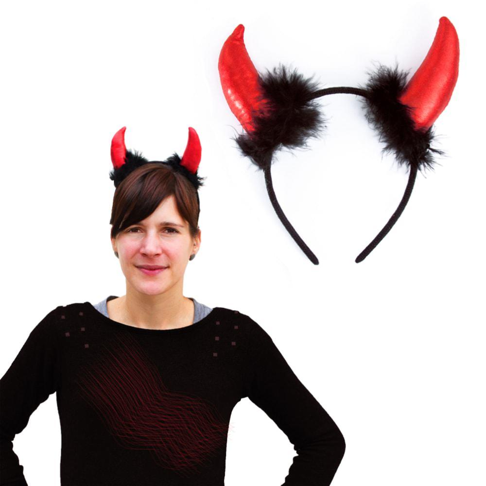 Haarreif Mit Hornern Teufelshorner Fasching Karneval Halloween