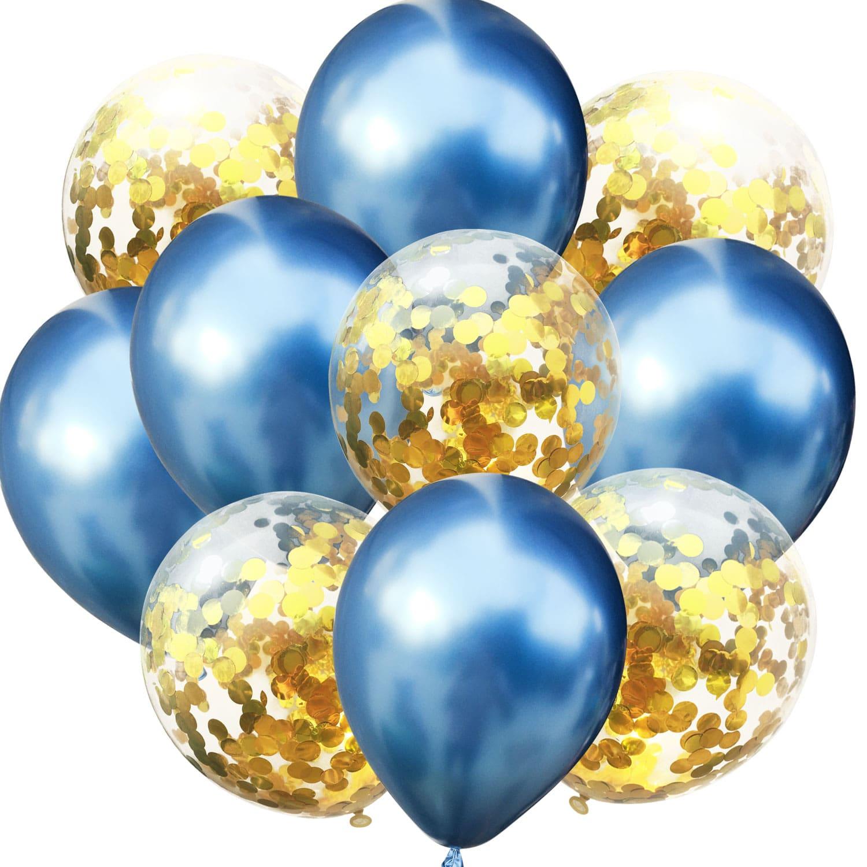 Ohighing 50 Stück Luftballons Rose Gold Konfetti Helium Ballons für Hochzeit