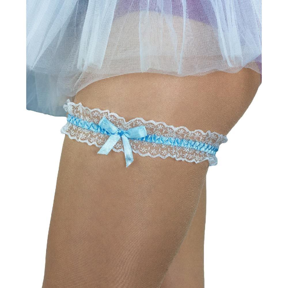 brand new 550a6 91b6e Strumpfband mit Schleife Hochzeit JGA Junggesellinnenabschied - blau