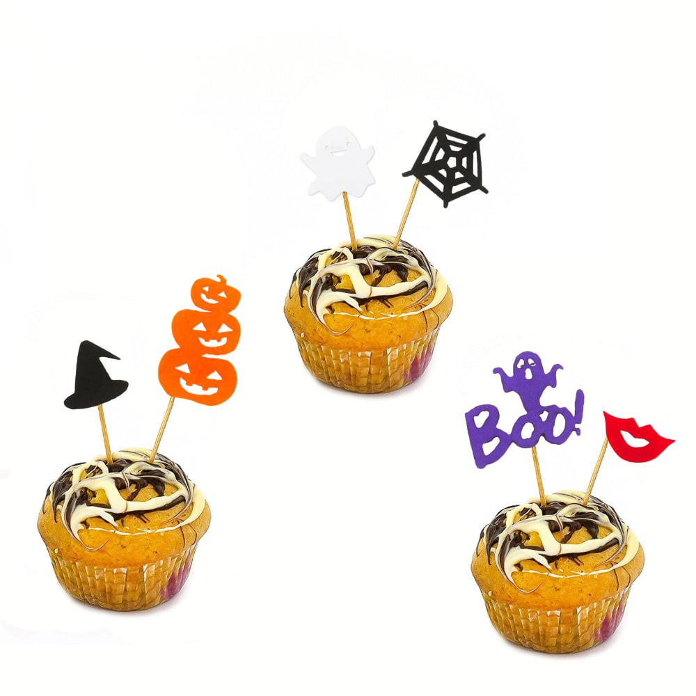 6 halloween topper holzsticker kuchen cupcake halloween. Black Bedroom Furniture Sets. Home Design Ideas