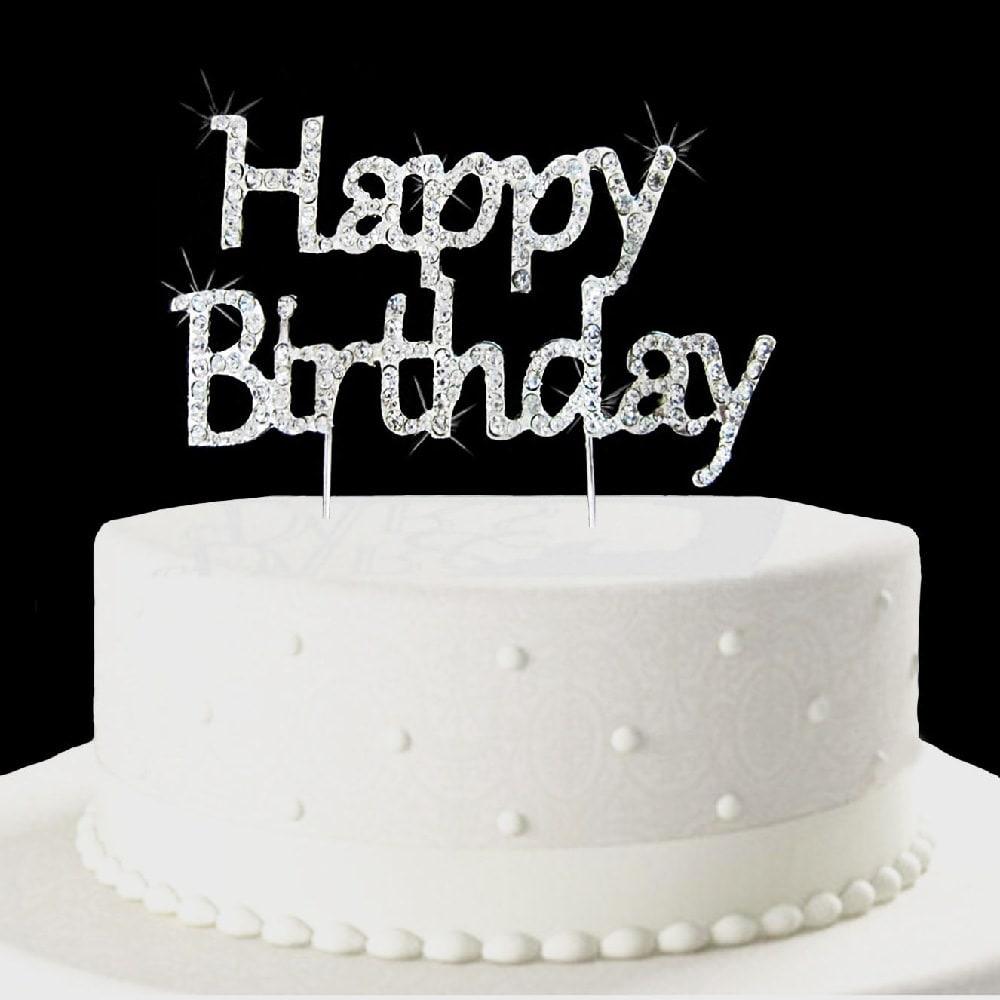 Torten Topper Kuchen Aufsatz Happy Birthday Geburtstag Strassteine