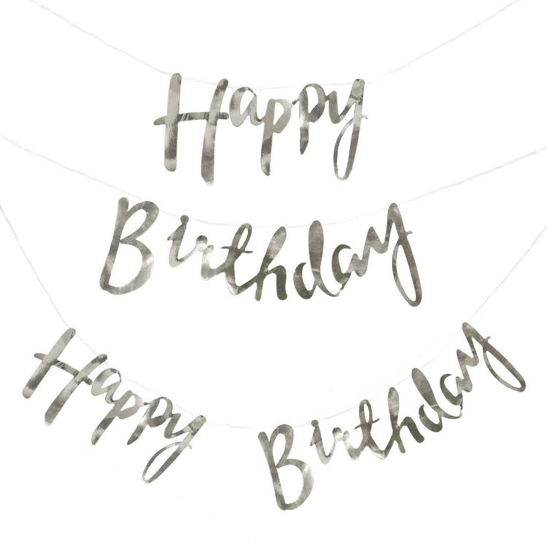 6 x 2 m Geburtstagsgirlande 18 Geburtstag Hänge Deko Girlande Geburtstag Party