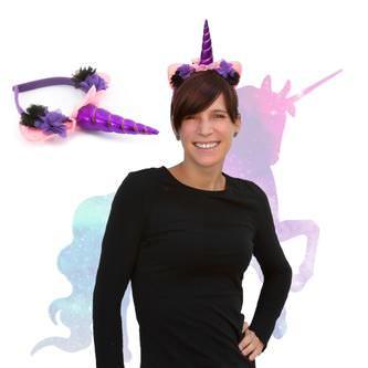 Haarreifen Einhorn Haarreif Unicorn Fasching Karneval JGA lila