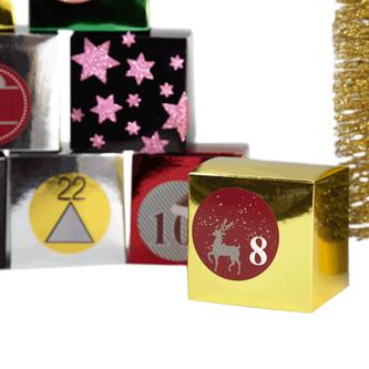 68 Sterne Sticker Aufkleber Glitzernd Funkelnd Weihnachtsdeko Weihnachtssterne - rosa