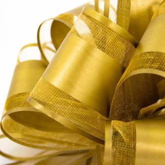 Geschenkschleife Deko Schleife für Geschenke Tüten Zuckertüte Weihnachten Geschenkdeko - gold