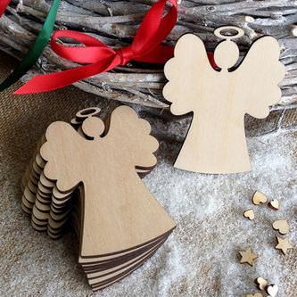 10 Holz Engel Weihnachtsbaum Christbaum Anhänger Christbaumschmuck