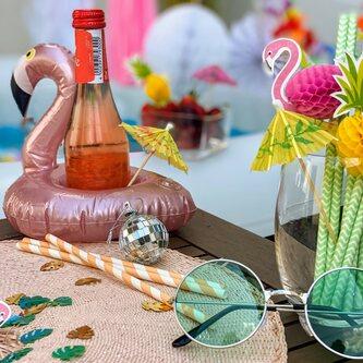 Strohhalme Trinkhalme Geburtstag Party Hochzeit JGA Deko - grün weiß