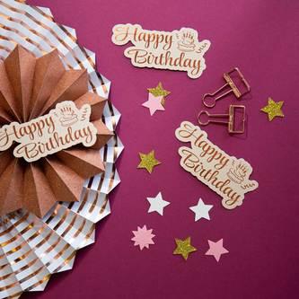 6 Foldback Klammern Klemmen Papierklammern Vielzweckklemmen - roségold