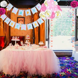 Happy Birthday Einhorn Girlande Banner 2m Geburtstag Party Deko - bunt