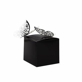 8 Pappschachteln für DIY Adventskalender Advent Kisten Boxen - schwarz