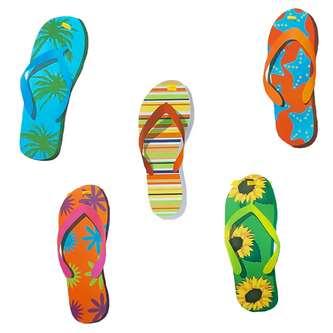 Flip Flop Girlande Sommer Party Deko Banner mit Flip Flops 10m