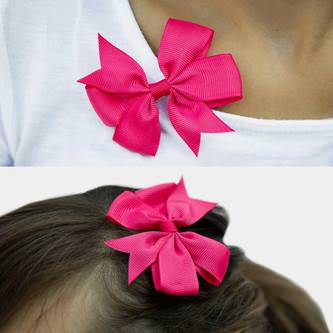 10x Blumen Schleifen Haarspange Haarklammer Hawaii Party JGA - pink