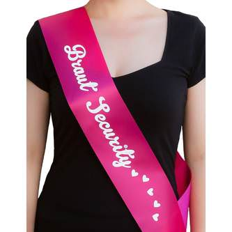 Schärpe Braut + Braut Security Set JGA Hen Party Bride to be Herz pink