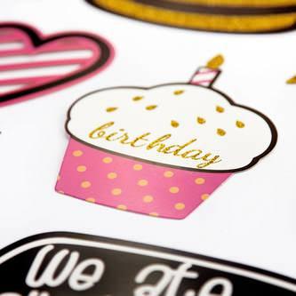 47 Fotorequisiten Fotoaccessoires Geburtstag Party Feier Foto Props