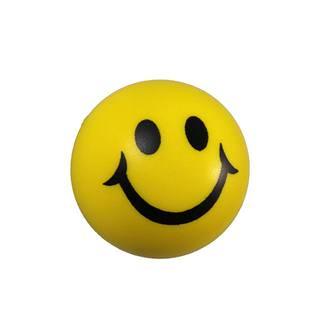 Smiley Knautschball Antistressball Softball Schaumstoff Ball gelb
