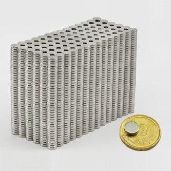 Neodym Magnet N38 ø 8 x 2 mm