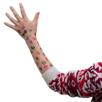 Temporäre Klebetattoos Kinder Tattoo Set - Eulen Motive