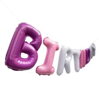 Happy Birthday Folienballon Girlande im Farbmix Geburtstag Party Deko