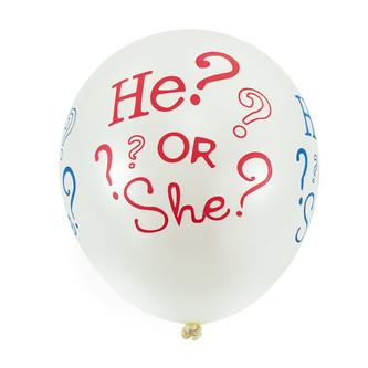 He Or She? Luftballon Set 10Stk Baby Shower Party Deko Feier - weiß