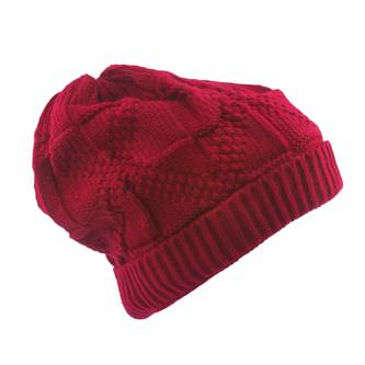 Long Beanie XXL Winter Strick Mütze Slouch Damen Herren Kinder - rot