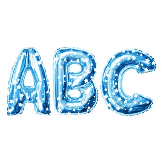 Folien Luftballon Buchstabe W Kinder Geburtstag Baby Shower Party Deko Ballon - blau