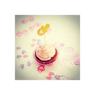 Konfetti Kinderwagen Baby Shower Schwanger Baby Mix - rosa lila