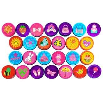 26 Kinder Mädchen Stempel Prinzessin Stempelset selbstfärbend kreativ