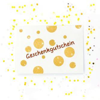 120 Punkte Sticker Aufkleber Set mit Glitzer Scrapbooking - gold
