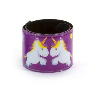 Einhorn Schnapparmbänder Armbänder Kindergeburtstag Mitgebsel - lila