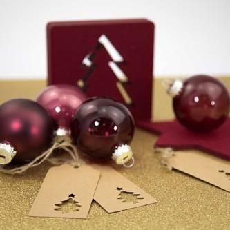 20 Geschenkanhänger Weihnachtsbaum Deko Anhänger - braun Weihnachtsbaum