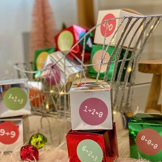 8 Pappschachteln für DIY Adventskalender Advent Kisten Boxen - silber