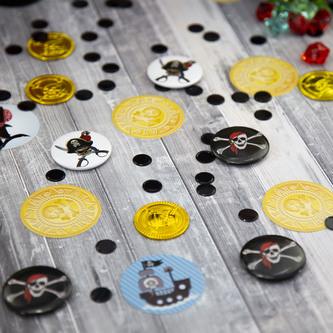 Button Piraten Totenkopf Anstecker - weiß