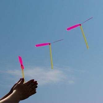 12 Flug Propeller Flugspiel Kinder Spielzeug für Kindergeburtstag bunt